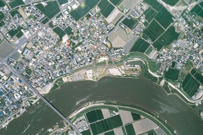 三重津海軍所跡全景写真(真上)/ 佐賀市教育委員会 提供