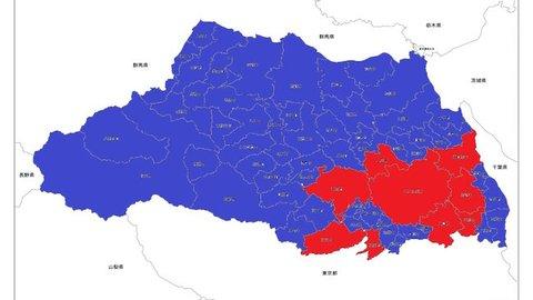 あなたの県はどうなる? 人口を二分割した都道府県マップが話題!