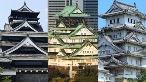 ◯◯城はどっち?日本の名城クイズ6問