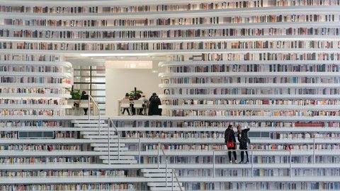 中国に誕生した超巨大な「図書館」の近未来感がハンパない