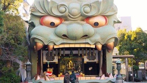 どうせなら大阪人をビックリさせよ…獅子殿を巨大化「難波八阪神社」
