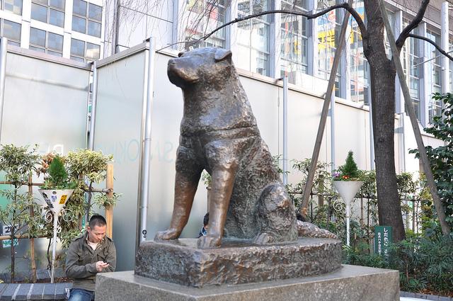 渋谷駅にある、この銅像は誰?