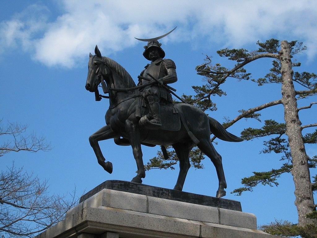 仙台城址(青葉城址)にある、この銅像は誰?