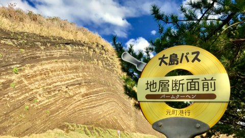 まるでバームクーヘン。大自然が作り出す、伊豆大島の美しい「地層切断面」
