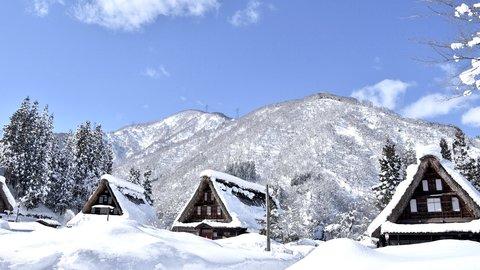 雪山の絶景。日本で唯一、流刑小屋が現存する世界遺産「五箇山」