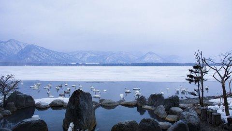 白鳥と湖畔でいい湯だな。混浴野天もある温泉天国「屈斜路湖」エリア