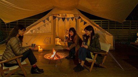 京都るり渓温泉の「キャンドルグランピング」で極上冬キャンプ