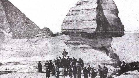 日本人で初めてエジプトのスフィンクスと記念撮影をした侍の旅