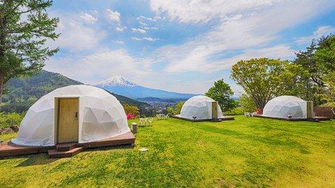 全室が富士山ビュー。大パノラマの絶景「グランピング」新客室オープン