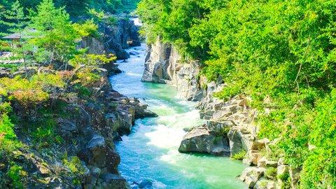 団子が空を飛ぶ!?一生に一度は行きたい、岩手県の絶景「厳美渓」